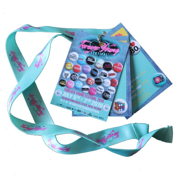 Forever Young Festival 2019 Programme Lanyards